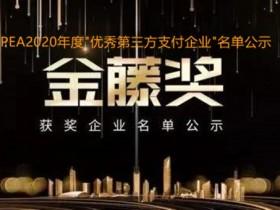 """""""金藤奖""""2020年获评""""优秀第三方支付企业""""名单公示"""